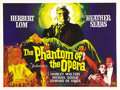 "Movie Posters:Horror, The Phantom of the Opera (Universal, 1962). British Quad (30"" X40""). Hammer Film Productions took a slightly different look..."