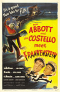 "Movie Posters:Horror, Abbott and Costello Meet Frankenstein (Universal, 1948). One Sheet(27"" X 41""). Two slumping franchises at Universal, the ho..."