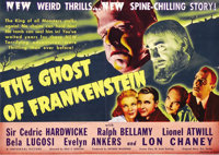 "Ghost of Frankenstein (Universal, 1942). Herald (7"" X 10""). Lon Chaney donned Jack Pierce's makeup to become T..."