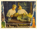 "Movie Posters:Horror, The Bride of Frankenstein (Universal, 1935). Lobby Card (11"" X14""). Great shot of Ernest Thesinger and Colin Clive with the..."