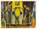 "Movie Posters:Horror, The Bride of Frankenstein (Universal, 1935). Lobby Card (11"" X 14"") Ernest Thesiger as the evil Dr. Pretorius assists Dr. Fr..."