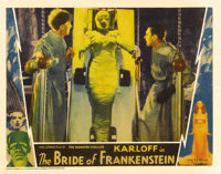 """The Bride of Frankenstein (Universal, 1935). Lobby Card (11"""" X 14"""") Ernest Thesiger as the evil Dr. Pretorius..."""