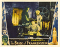 "Movie Posters:Horror, The Bride of Frankenstein (Universal, 1935). Lobby Card (11"" X14""). Boris Karloff, as the Frankenstein monster, appears in ..."