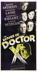 "Movie Posters:Horror, The Return of Dr. X (Warner Brothers, 1939). Three Sheet (41"" X81""). Humphrey Bogart described this as ""one of the pictures..."