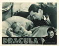 "Movie Posters:Horror, Dracula (Universal, R-1938). Lobby Card (11"" X 14""). Bela Lugosilaunched his career as the definitive screen vampire in thi..."