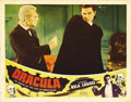 """Movie Posters:Horror, Dracula (Realart, R-1951). Lobby Card (11"""" X 14""""). Bela Lugosistars as Bram Stoker's undead Count Dracula in this classic s..."""