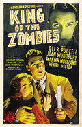 "Movie Posters:Horror, King of the Zombies (Monogram, 1941). One Sheet (27"" X 41""). AnAmerican special agent's plane crashes on an island teeming ..."