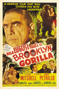 """Movie Posters:Comedy, Bela Lugosi Meets a Brooklyn Gorilla (Realart, 1952). One Sheet(27"""" X 41""""). Bela Lugosi plays a mad scientist who's perform..."""