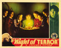 "Movie Posters:Horror, Night of Terror (Columbia, 1933). Lobby Card (11"" X 14""). BelaLugosi stars in this murder mystery as a mystic who conducts ..."