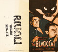 """Movie Posters:Horror, The Black Cat (Universal, 1934). Herald (7"""" X 8""""). This was the first teaming of Universal's masters of horror, Boris Karlof..."""