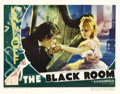 "Movie Posters:Horror, The Black Room (Columbia, 1935). Lobby Card (11"" X 14""). BorisKarloff stars in this thriller set in the 18th century, portr..."