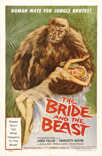"""The Bride and the Beast (Allied Artists, 1958). One Sheet (27"""" X 41""""). In this campy horror film written by Ed..."""