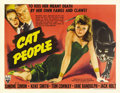 "Movie Posters:Horror, Cat People (RKO, 1942). Half Sheet (22"" X 28"") Style B. Val Lewtonproduced this amazing film on a very modest budget, and t..."