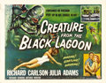 "Movie Posters:Horror, Creature From the Black Lagoon (Universal International, 1954).Half Sheet (22"" X 28"") Style A. Universal studios was famous..."