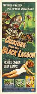 "Movie Posters:Horror, Creature From the Black Lagoon (Universal International, 1954).Insert (14"" X 36""). The last and one of the greatest entries..."