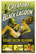 "Movie Posters:Horror, Creature From the Black Lagoon (Universal International, 1954). OneSheet (27"" X 41""). Universal Pictures gained renown with..."