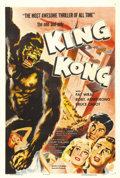 "Movie Posters:Horror, King Kong (RKO, R-1956). One Sheet (27"" X 41""). Co-producers MerianC. Cooper and Ernest B. Schoedsack were very hands-on in..."