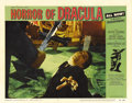 """Movie Posters:Horror, Horror of Dracula (Warner Brothers, 1958). Lobby Card (11"""" X 14""""). This #7 card is considered by many to be the best scene c..."""