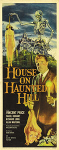 "Movie Posters:Horror, House on Haunted Hill (Allied Artists, 1959). Insert (14"" X 36"").One of horror legend Vincent Price's signature performance..."