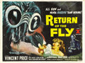"Movie Posters:Horror, Return of the Fly (20th Century Fox, 1959). British Quad (30"" X40""). This is the sequel to the all-time creepiest of creepy..."