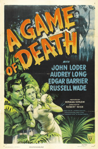 """A Game of Death (RKO, 1945). One Sheet (27"""" X 41""""). Robert Wise was tapped to direct this remake of 1933's &qu..."""