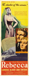 "Movie Posters:Hitchcock, Rebecca (United Artists, 1940). Insert (14"" X 36""). This isdirector Alfred Hitchcock's first American film, having been lur..."