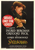 "Movie Posters:Hitchcock, Spellbound (United Artists, 1945). Australian One Sheet (27"" X40""). Alfred HItchcock's study of psychoanalysis and murder i..."