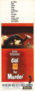 "Movie Posters:Hitchcock, Dial M for Murder (Warner Brothers, 1954). Insert (14"" X 36"").Grace Kelly's first role in an Alfred Hitchcock film was base..."