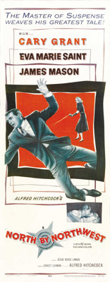 """North by Northwest (MGM, 1959). Insert (14"""" X 36""""). Directed by Alfred Hitchcock, Cary Grant plays a man whose..."""