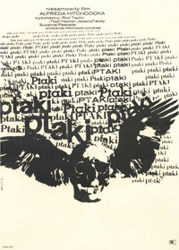 "The Birds (Universal, 1963). Polish Poster (23"" X 33""). This Polish poster, with its famous design by Zelek, i..."