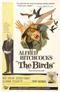 "Movie Posters:Hitchcock, The Birds (Universal, 1963). One Sheet (27"" X 41""). Tippi Hedrenstars in one of Alfred Hitchcock's most acclaimed films as ..."