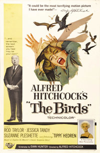 """The Birds (Universal, 1963). One Sheet (27"""" X 41""""). Tippi Hedren stars in one of Alfred Hitchcock's most accla..."""