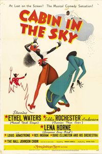 """Cabin in the Sky (MGM, 1943). One Sheet (27"""" X 41"""") Style C. Director Vincente Minnelli's first film was this..."""