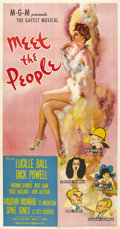 "Movie Posters:Comedy, Meet the People (MGM, 1944). Three Sheet (41"" X 81""). This amazingposter displays perhaps the most gorgeous full-length ima..."