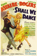 """Movie Posters:Musical, Shall We Dance (RKO, 1937). One Sheet (27"""" X 41""""). The seventh ofRKO's Fred Astaire and Ginger Rogers musicals, """"Shall We D..."""