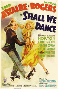 """Shall We Dance (RKO, 1937). One Sheet (27"""" X 41""""). The seventh of RKO's Fred Astaire and Ginger Rogers musical..."""