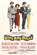 """Movie Posters:Musical, Guys and Dolls (MGM, 1955). One Sheet (28.5"""" X 42""""). Classic imagesof Marlon Brando, Jean Simmons, Frank Sinatra and Vivian..."""