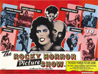 "The Rocky Horror Picture Show (20th Century Fox, 1975). British Quad (30"" X 40""). This low-budget freak show/c..."
