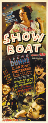 """Show Boat (Universal, 1936). Insert (14"""" X 36""""). This second film version of the Edna Ferber/Jerome Kern/Oscar..."""