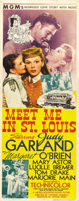 "Meet Me in St. Louis (MGM, 1944). Insert (14"" X 36""). Outside of ""The Wizard of Oz,"" this is one of..."
