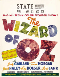 "The Wizard of Oz (MGM, 1939). Jumbo Window Card (22"" X 28""). Time has been powerless to erase the enduring mag..."