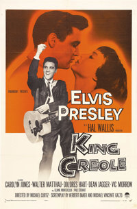 "King Creole (Paramount, 1958). One Sheet (27"" X 41""). Elvis Presley gives a strong performance in one of his b..."