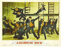 "Jailhouse Rock (MGM, 1957). Lobby Card (11"" X 14""). For all of you Elvis Presley fans out there, it just doesn..."