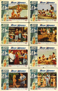 "Blue Hawaii (Paramount, 1961). Lobby Card Set of 8 (11"" X 14""). One of Elvis Presley's most well-loved films..."
