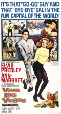 "Viva Las Vegas (MGM, 1964). Three Sheet (41"" X 81""). In one of the best Rockin' & Rollin' Elvis Presley hi..."