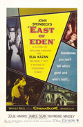"""Movie Posters:Drama, East of Eden (Warner Brothers, 1955). One Sheet (27"""" X 41""""). Thelegendary James Dean was given his breakout first starring ..."""