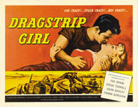 "Dragstrip Girl (AIP, 1957). Half Sheet (22"" X 28""). Fay Spain is insatiable in her search for new thrills. She..."