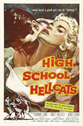 "Movie Posters:Crime, High School Hellcats (AIP, 1958). One Sheet (27"" X 41""). Yvonne Lime would star in a number of ""Bad Girl"" films from the 195..."