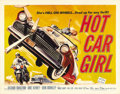 "Movie Posters:Cult Classic, Hot Car Girl (Universal, 1958). Half Sheet (22"" X 28""). June Kenneybecomes involved with small-time hood Duke (Richard Baka..."