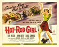 "Movie Posters:Bad Girl, Hot Rod Girl (American International, 1956). Half Sheet (22"" X28""). Lori Nelson is the ""Hot Rod Girl"" who drives a 1955 Thu..."